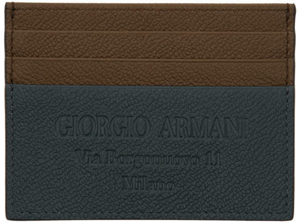 a6cf097427 Brown and Blue Logo Stamp Card Holder