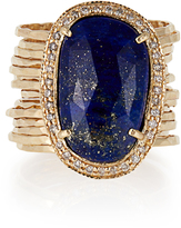 Jacquie Aiche Diamond, lapis & yellow-gold ring