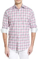 Thomas Dean Men's Classic Fit Funky Plaid Sport Shirt