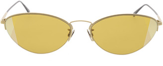 Bottega Veneta Gold Cat-Eye Sunglasses