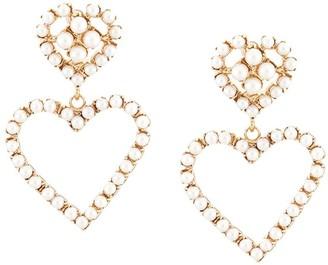 Dannijo Fiona heart earrings