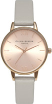 Olivia Burton OB15MD46 midi dial stainless steel and leather watch