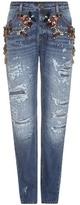 Dolce & Gabbana Crystal-embellished Slim Jeans