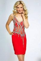 Jovani Stunning One-Shoulder Cocktail Dress with Jeweled Bodice JVN99393