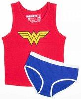 Bioworld Underoos Girls Wonder Woman Tank Underwear Set, Extra Small 4, Multi