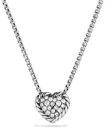 David Yurman Chatelaine Heart Pendant Necklace with Diamonds