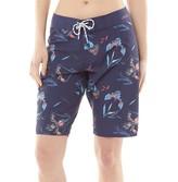Animal Womens Fian Board Shorts Mid Navy Blue