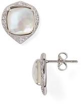 Nadri Sterling Mirage Mother-of-Pearl Drop Earrings