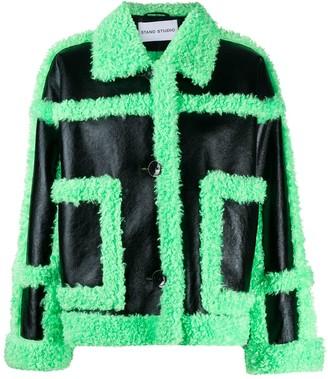 Stand Studio Fay faux-fur jacket