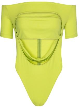 Thierry Mugler Stretch-crepe jersey bodysuit