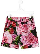 Dolce & Gabbana rose print shorts - kids - Cotton - 2 yrs