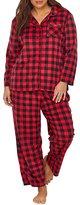 Karen Neuburger Plus Size Plaid Fleece Pajama Set