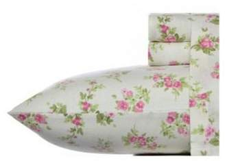 Laura Ashley Audrey Flannel Sheet Set - Pink