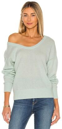 White + Warren Open Scoopneck Sweater