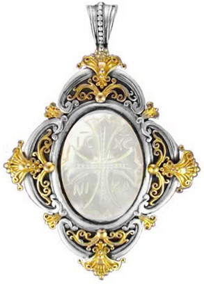 Konstantino 18K & Silver Mother-Of-Pearl Pendant