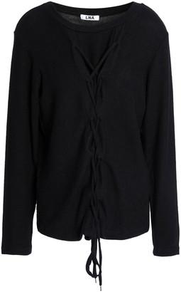 LnA Vok Lace-up Stretch-tencel Jersey Top