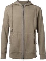Helmut Lang Honeycomb Pique hoodie - men - Cotton/Spandex/Elastane/Viscose - XS