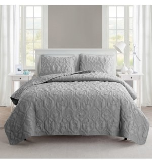 VCNY Home Shore 3-Piece Embossed King Quilt Set