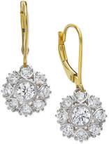 Marchesa Certified Diamond Two-Tone Snowflake Drop Earrings in 18k Gold (1-1/6 ct. t.w.)