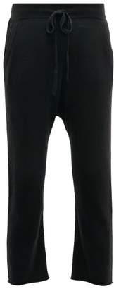 Nili Lotan Luna Cashmere Cropped Track Pants - Womens - Black