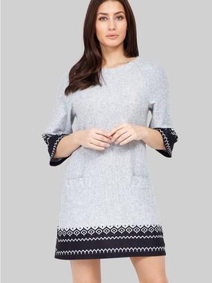 M&Co Izabel fair isle print knit dress