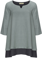 Isolde Roth Plus Size Layered cotton-linen blend tunic