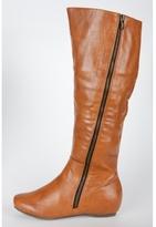 Zipper Flat Boots