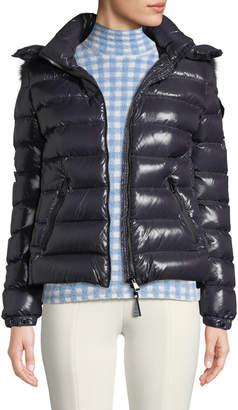 Moncler Badyfur Puffer Jacket w/ Removable Fur Hood
