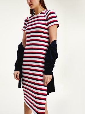 Tommy Hilfiger Essentials Stripe Short Sleeve Dress
