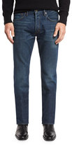 Tom Ford Regular-Fit Selvedge Harrison Wash Denim Jeans, Blue