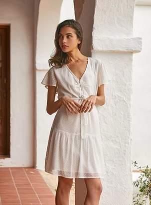 Petite Mendigote Polyester Julie Plumetis Dress - 0 | polyester