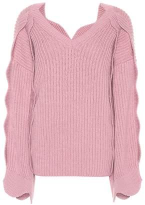 Stella McCartney Oversized cotton and wool sweater