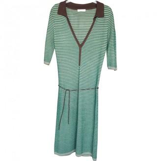 Topshop Tophop Green Cotton Dress for Women