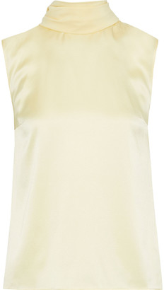 Roksanda Crepe De Chine-trimmed Silk-satin Blouse