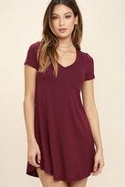 LuLu*s Better Together Olive Green Shirt Dress