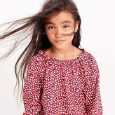 J.Crew Girls' smocked-neck top in hearts
