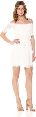BB Dakota Women's Zinnia Off The Shoulder Lace Dress