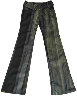 Christian Dior Green Denim - Jeans Trousers