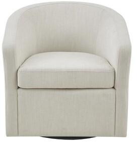 Martha Stewart Amber Swivel Barrel Chair Upholstery Color: Cream