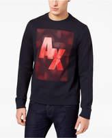 Armani Exchange Men's Logo-Print Fleece Sweatshirt