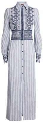Ermanno Scervino Embroidered Maxi Shirt Dress