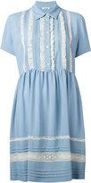 P.A.R.O.S.H. ruffled trim shirt dress - women - Acetate/Silk/Cotton/Polyamide - XS