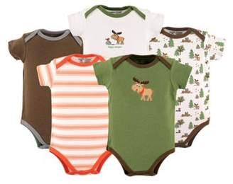 Luvable Friends Baby Boy Bodysuits, 5-Pack