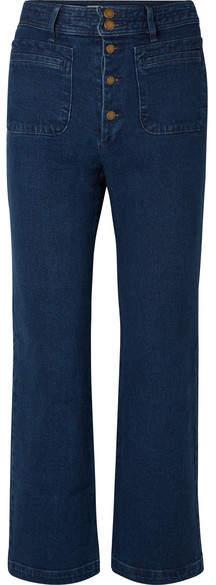 Apiece Apart Marston High-rise Straight-leg Jeans - Indigo