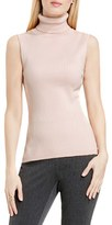 Vince Camuto Women's Sleeveless Ribbed Turtleneck Sweater