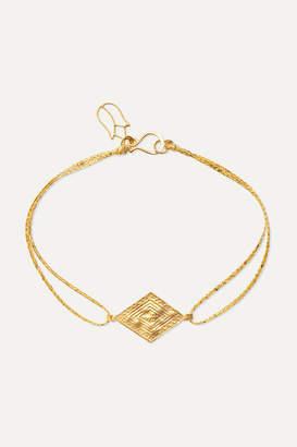 Pippa Small 18-karat Gold And Cord Bracelet