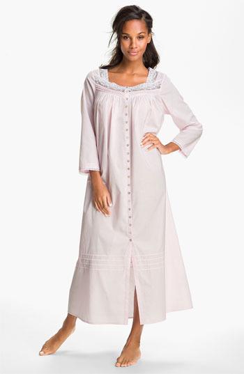 Eileen West Button Front Nightgown