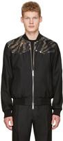 DSQUARED2 Black Embroidered Sequin Bomber Jacket