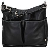OiOi Leather Hobo Diaper Bag - Black 2 Pocket by