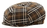 Wigens Contemporary Plaid Newsboy Hat